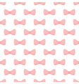 Pink bows on white background seamless pattern vector image vector image