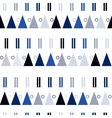 seamless pattern in modern Scandinavian vector image