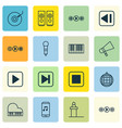 set of 16 music icons includes rostrum sound box vector image vector image