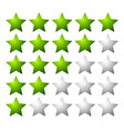 set of 5 star rating elements starting from 1 star vector image