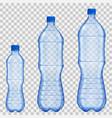 set of transparent plastic bottles vector image vector image