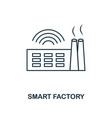 smart factory icon thin line style industry 40 vector image