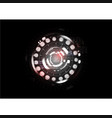 technological abstract red light interface vector image vector image