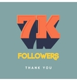 thanks design template for network friends vector image vector image
