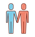 two character man standing friends icon vector image