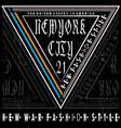 typography new york tee logo design vector image vector image