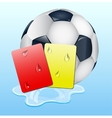 Warning and ban cards with ball vector image vector image
