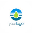 water drop technology logo vector image vector image