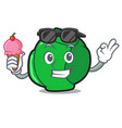 with ice cream brussels character cartoon style vector image vector image