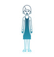 woman full body with blouse and jacket and skirt vector image