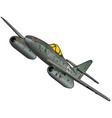 world war ii fighter jet vector image vector image