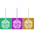 set of three christmas balls vector image