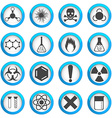 Chemical icons set vector image