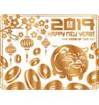 2019 new year symbol pig vector image vector image