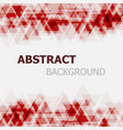 abstract red triangle overlapping background vector image