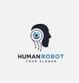 abstract simple human robot logo icon template vector image vector image