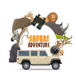 african safari hunting sport and animals africa vector image vector image
