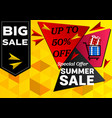 banner summer sale special offer geometric vector image