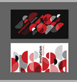 black and white dynamic geometric composition vector image vector image
