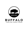 buffalo logo design vector image vector image