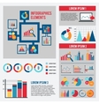 Business chart infographics set vector image vector image