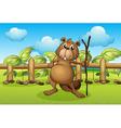 Cartoon Beaver vector image vector image