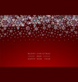 christmas background crystal snowflakes vector image vector image