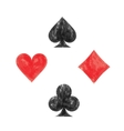 collection playing card symbols vector image