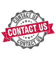 contact us stamp sign seal vector image vector image