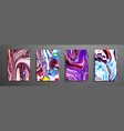 covers with acrylic liquid textures colorful vector image