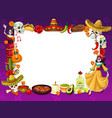 day death holiday in mexico frame symbols vector image vector image