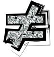 Diamond Font symbol vector image vector image