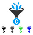 euro sale conversion flat icon vector image