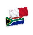 flags malta and republic south africa on a vector image vector image