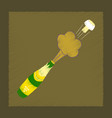 flat shading style icon bottle champagne vector image vector image