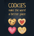 food quote cookies make world a better place vector image