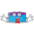 geek pencil case character cartoon vector image