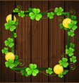 green frame with clover vector image vector image