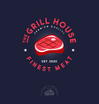 grill house logo butchery shop or restaurant vector image vector image