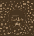 happy easter greeting card with chocolate vector image vector image