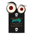 happy halloween invitation card vector image