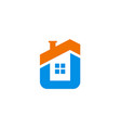 house icon company logo vector image vector image