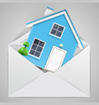 house in an envelope vector image