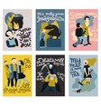 human fears cards set vector image vector image