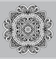 image doodle drawing for coloring the mandala vector image vector image