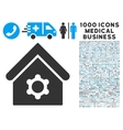 Industrial Building Icon with 1000 Medical vector image