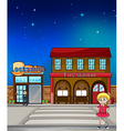 Kid locksmith and fire station vector image