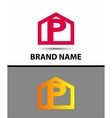 Letter P logo icon vector image vector image