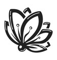 lily flower icon simple style vector image vector image