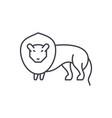 lion line icon concept lion linear vector image